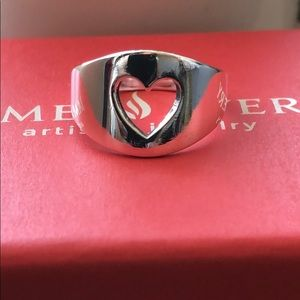 JA Cutout Heart Ring HTF And RETIRED